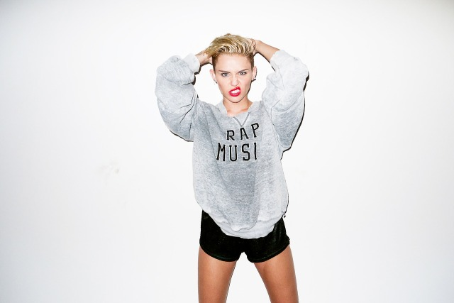 One of the pictures of Miley Cyrus' photo shoot with Terry Richardson, August 15 2013